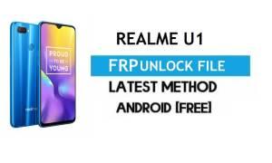 Realme U1 FRP Bypass/Unlock File (Remove with DA) SP Tool Latest