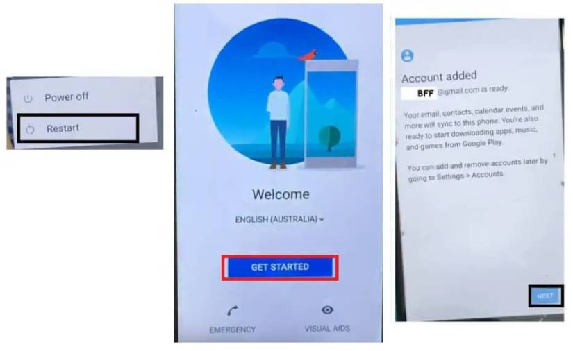 Account Added to successfully Sony Android 8 FRP Bypass Unlock Google Account GMAIL Verification