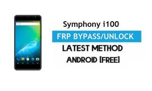 Symphony i100 FRP Bypass – Unlock Gmail Lock Android 7.0 Without PC
