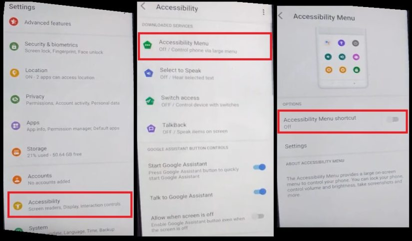 Turn On Accessibility to TCL Android 11 FRP Bypass Unlock Google GMAIL Lock Account verification
