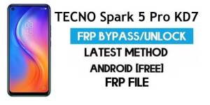 TECNO Spark 5 Pro KD7 FRP File (With DA) Unlock by SP Tool – Latest Free