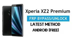 Xperia XZ2 Premium FRP Bypass – Unlock Gmail Lock Android 10 No PC