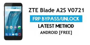 ZTE Blade A2S V0721 FRP Bypass Android 6.0.1 – Unlock Google Gmail Lock [Without PC]