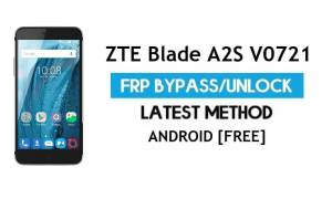ZTE Blade A2S V0721 FRP Bypass – Unlock Google Gmail lock Android 6