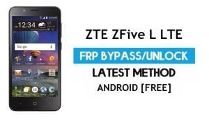 ZTE ZFive L LTE FRP Bypass – Unlock Google Gmail Lock Android 6.0