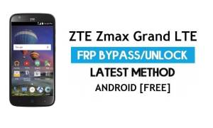 ZTE Zmax Grand LTE FRP Bypass Android 6.0.1 – Unlock Google Gmail Lock [Without PC]