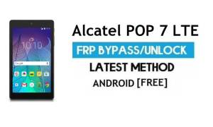 Alcatel POP 7 LTE FRP Bypass Without PC – Unlock Gmail Android 6.0.1
