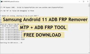 Samsung Android 11 ADB FRP Remover Download   Samsung MTP + ADB FRP Tool
