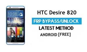 HTC Desire 820 FRP Bypass Without PC – Unlock Gmail Lock Android 6.0