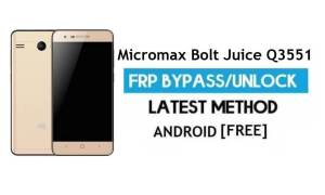 Micromax Bolt Juice Q3551 FRP Bypass No PC – Unlock Gmail Android 6