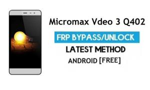 Micromax Vdeo 3 Q402 FRP Bypass Without PC – Unlock Gmail Android 6