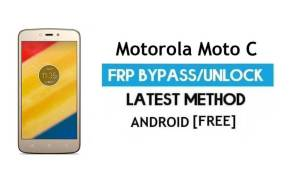Motorola Moto C FRP Bypass – Unlock Google Gmail Lock (Android 7) Without PC Latest
