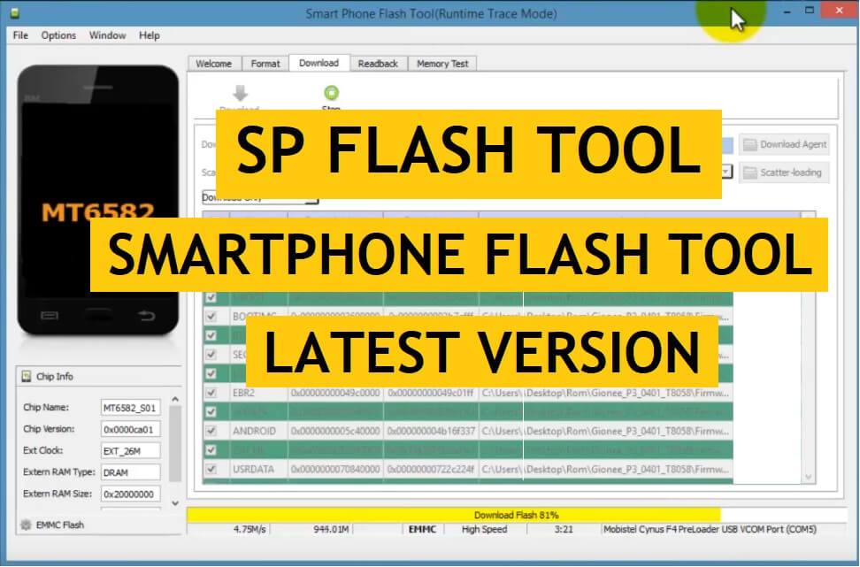 Download SP Flash Tool | Smartphone Flash Tool V6, V5, V3, Latest All Version Free