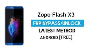 Zopo Flash X3 FRP Bypass Without PC – Unlock Gmail Lock Android 7.0