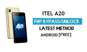 Itel A20 FRP Bypass – Unlock Gmail Lock Android 7.0 Fix Youtube Update