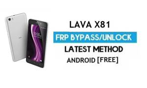 Lava X81 FRP Unlock Google Account Bypass | Android 6.0 (Without PC)