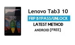 Lenovo Tab3 10 FRP Unlock Google Account Bypass Android 6.0 No PC