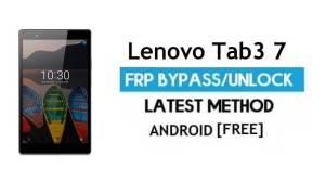 Lenovo Tab3 7 FRP Unlock Google Account Bypass Android 6.0 No PC