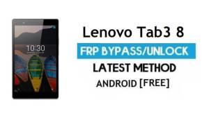 Lenovo Tab3 8 FRP Unlock Google Account Bypass | Android 6.0 No PC