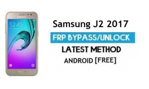Samsung J2 2017 SM-J200G/BT FRP Bypass Unlock Google Android 7.0