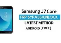 Samsung J7 Core FRP Bypass 2021 Latest – Unlock Google Verification [Android 9.0]