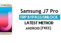 Samsung J7 Pro SM-J730F/G/GM FRP Bypass 2021 Latest – Unlock Google Verification [Android 9.0]