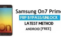 Samsung On7 Prime FRP Bypass 2021 Latest – Unlock Google Gmail Verification [Android 9.0]