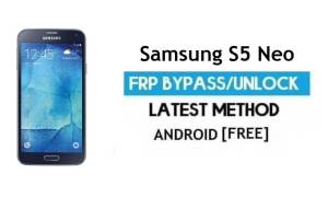 Samsung S5 Neo SM-G903F/W FRP Bypass Unlock Google [Android 7.0]