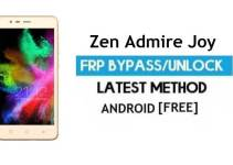 Zen Admire Joy FRP Bypass – Unlock Google Gmail Lock (Android 6.0) Without PC Latest