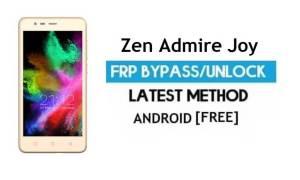 Zen Admire Joy FRP Unlock Google Account Bypass Android 6.0 No PC