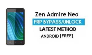 Zen Admire Neo FRP Unlock Google Account Bypass Android 6.0 No PC