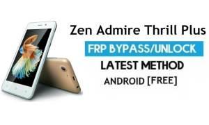Zen Admire Thrill Plus FRP Unlock Google Account Bypass Android 6.0