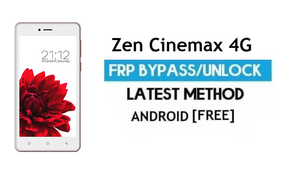 Zen Cinemax 4G FRP Unlock Google Account Bypass Android 6.0 No PC