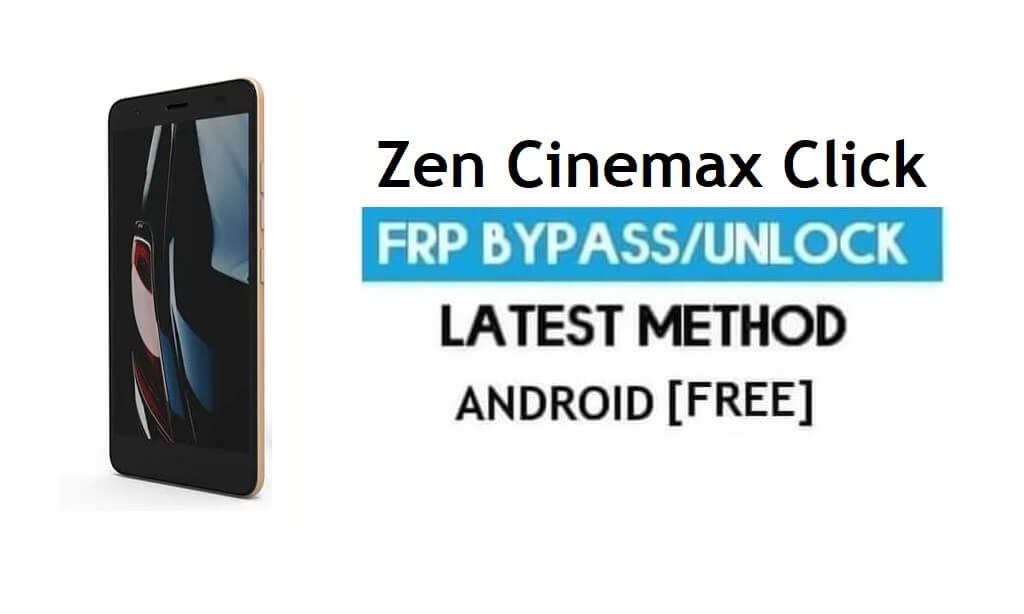 Zen Cinemax Click FRP Unlock Google Account Bypass Android 6.0 Free