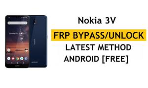 Reset FRP Nokia 3V Bypass Google Gmail Android 10 Without PC/APK