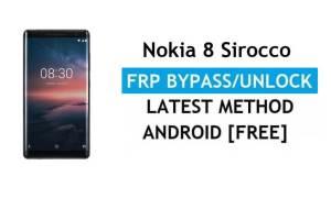 Reset FRP Nokia 8 Sirocco Bypass Google lock Android 10 No PC/APK