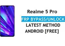 Realme 5 Pro Android 11 FRP Bypass – Unlock Google (Fix FRP Code Not Working) Without PC