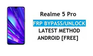 Realme 5 Pro Android 11 FRP Bypass – Unlock Google Gmail Without PC