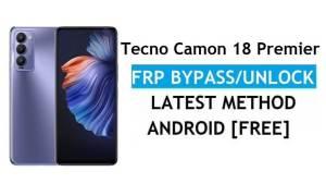 Tecno Camon 18 Premier Android 11 FRP Bypass Unlock Gmail No PC