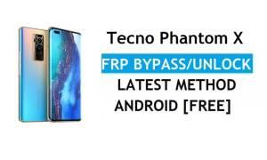 Tecno Phantom X Android 11 FRP Bypass Reset Google Gmail lock Latest