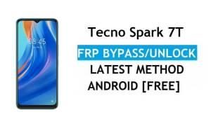 Tecno Spark 7T Android 11 FRP Bypass Unlock Google Gmail Lock Latest