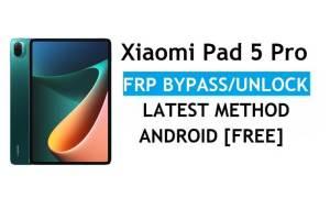 Xiaomi Pad 5 Pro MIUI 12.5 FRP Unlock/Google Account Bypass – Latest Method Without PC/APK