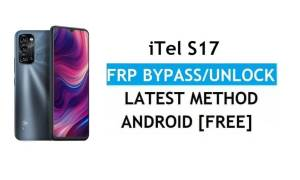 iTel S17 Android 11 FRP Bypass Unlock Google Gmail Lock Without PC