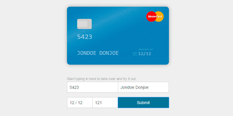 Card: HTML & CSS Credit Card Visual Form | Bypeople