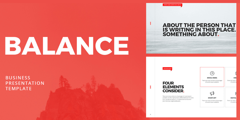 But, let's face it, when it comes to the default templates included, your options are limited. Balance Free Minimalistic Powerpoint Keynote Template Bypeople