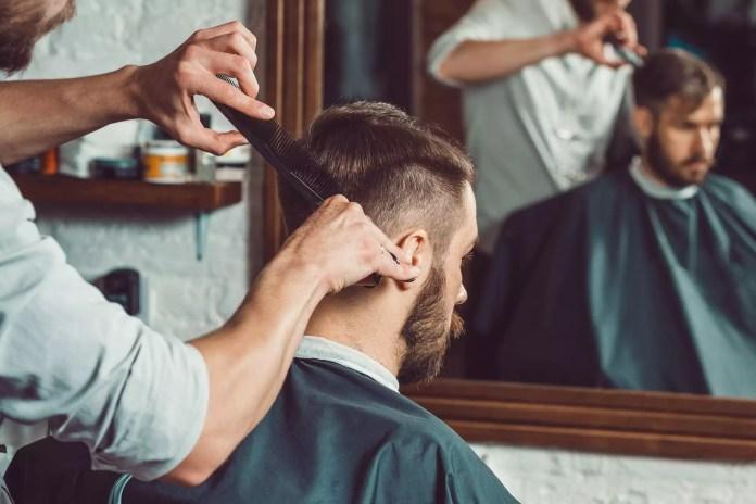 Man at a barbershop