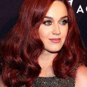 celebs dark red hair