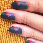 insanely cool matte nail design
