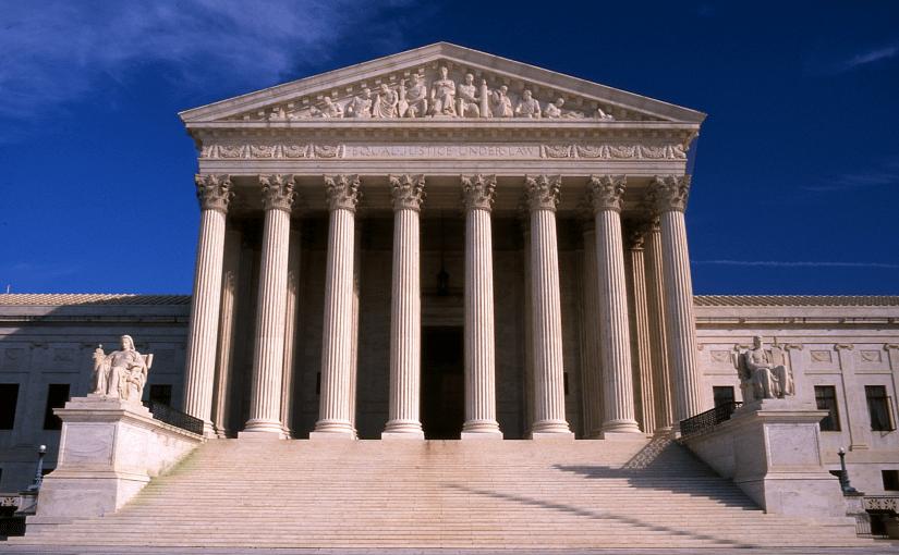 """United states supreme court building"" by Kubina via Wikipedia [public domain]"