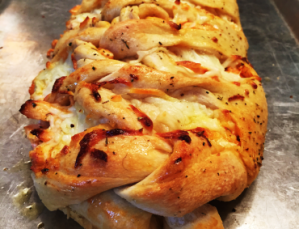 Chicken Wing Pizza Braid image - Chicken Wing Pizza Braid image
